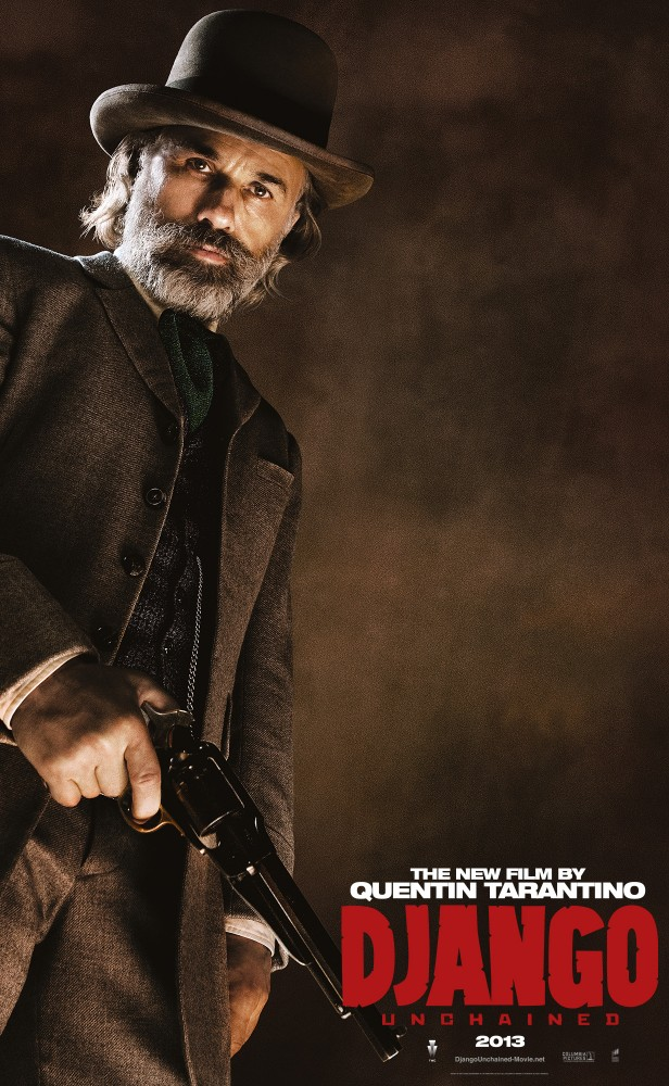 DjangoUnchained ChristophWaltz Django And His Friends Say Hello in Five New Character Posters for Django Unchained