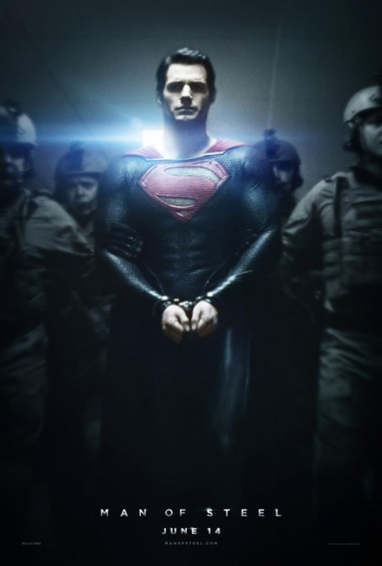 ManofSteelPoster Supermans in Handcuffs, Plus Lens Flares in the New Man of Steel Poster