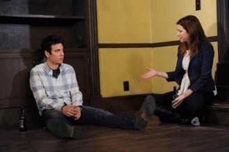 """""""Something New"""" -- As the gang prepares to head out to Robin and Barney's wedding, Ted (Josh Radnor) invites Lily (Alyson Hannigan) to see the house he's finally finished fixing up, on the eighth season finale cliffhanger of HOW I MET YOUR MOTHER, Monday, May 13 (8:00-8:30 PM, ET/PT) on the CBS Television Network. Photo: Ron P. Jaffe/CBS © 2013 CBS Broadcasting, Inc. All Rights Reserved."""