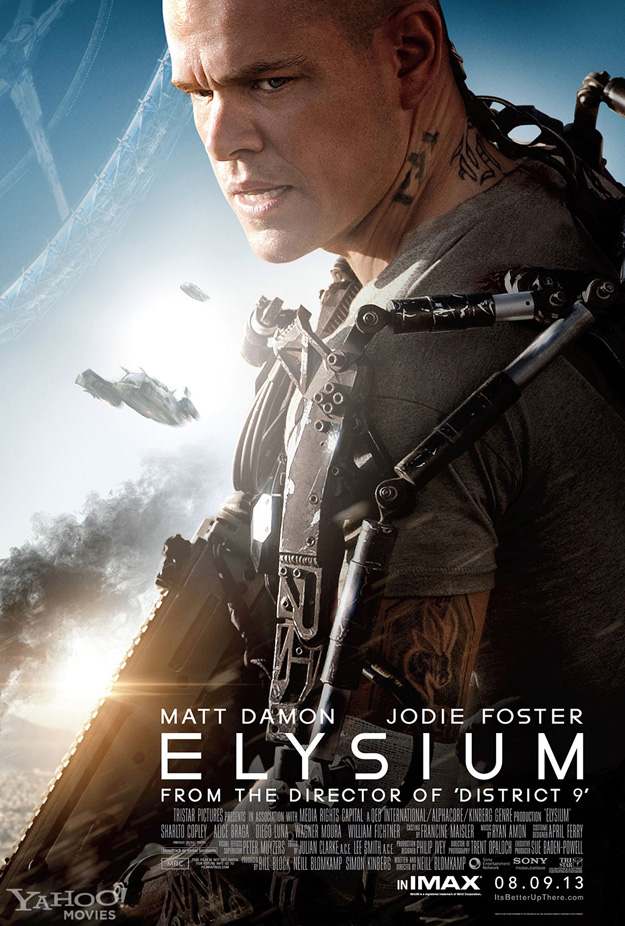 elysiumnewposter Word Of Mouth: Is Elysium Just Another Summer Movie Disappointment?  Eh...Its Complicated